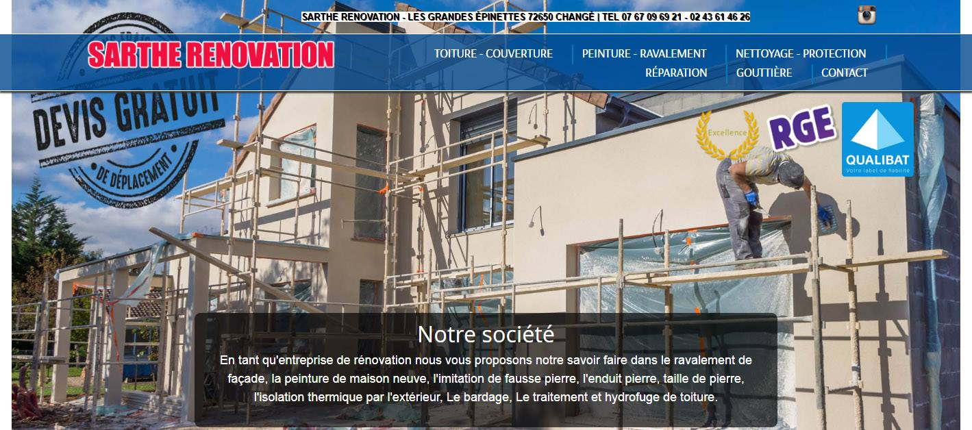 site web sarthe renovation